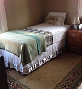 SINGLE BED METAL FRAME, MATTRESS & BOX SPRING