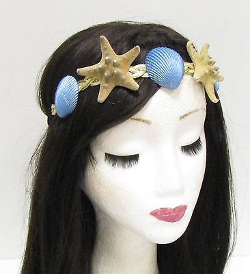 e Seestern Muschel Stirnband Haar Kronen Meerjungfrau Kostüm (Echte Meerjungfrau Kostüm)