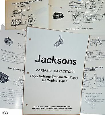Jackson Prospekt Drekondensatoren Datenblätter Dreko Drehko