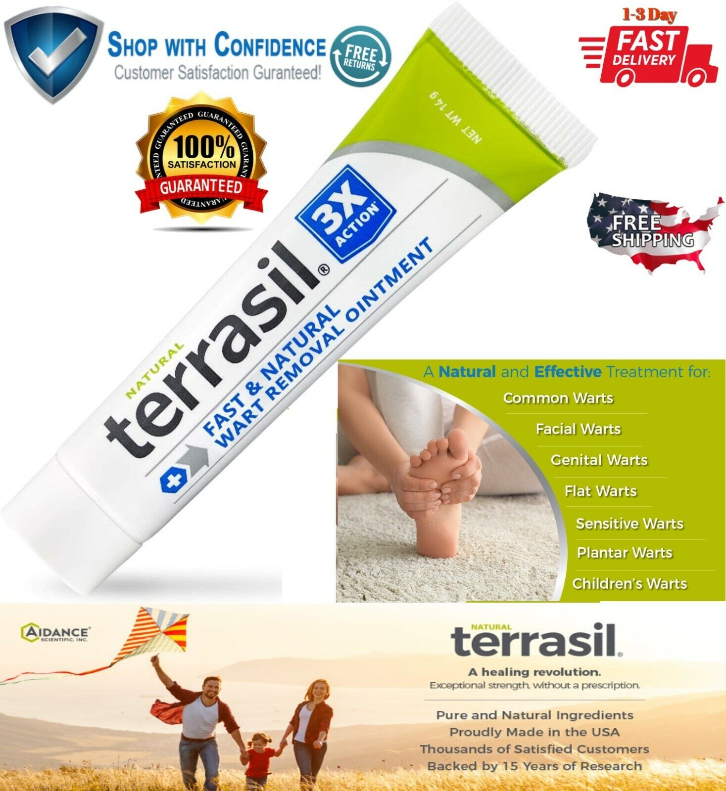 Fast Acting Wart Remover Plantar and Genital HPV Treatment S