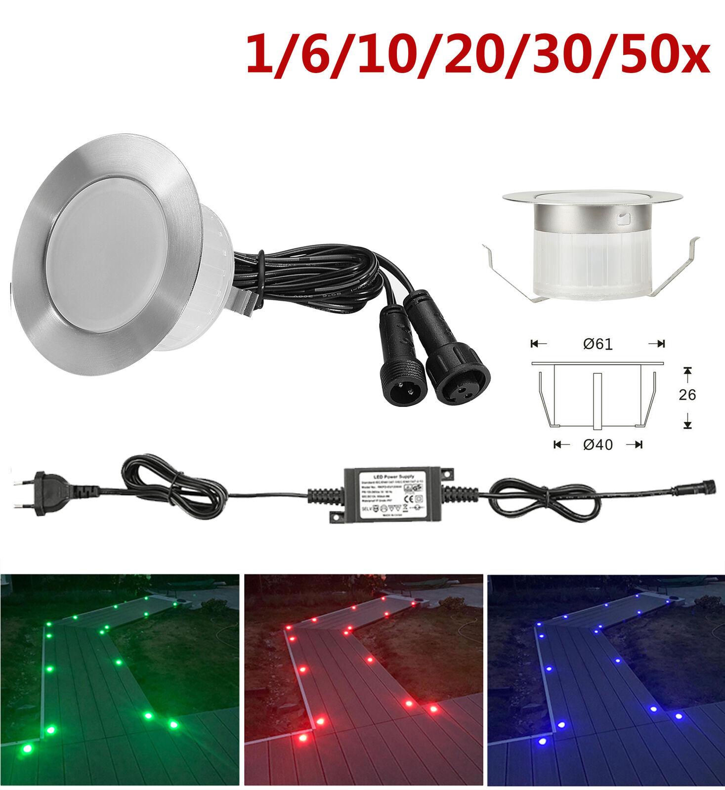 Détails Sur 1 50pcs φ61mm 1 5w 12v Led Lampe Lumière éclairage Exterieur Maison Jardin Spot