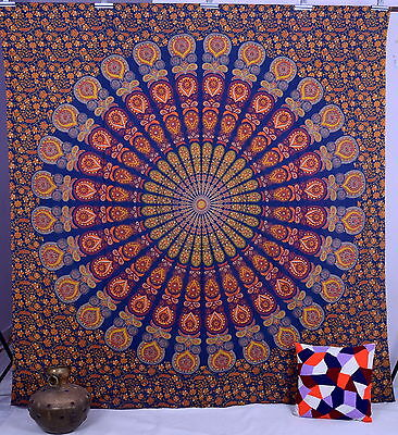 Mandala Tapestry Indian Wall Hanging Hippie Tapestries Queen Bedspread Throw