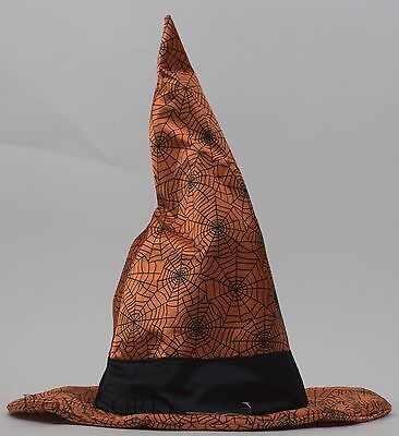 Halloween Animated Orange with Black Spider Web Witch Hat Sing Boo Like Jagger (Animated Halloween Spider)