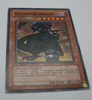 Yu-Gi-Oh Karte - Gravistoß-Drache - Drache / Effekt - braun - Yugioh Neu