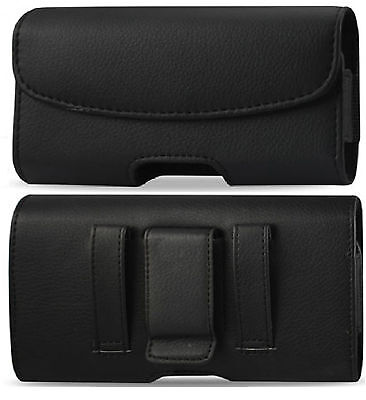 FOR SAMSUMG GALAXY GRAND PRIME BELT CLIP HOLSTER HORIZONTAL LEATHER POUCH CASE  Deluxe Horizontal Leather Pouch Case