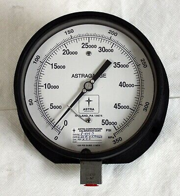 New Astra R-434-3 High Pressure Gauge 50000 Psi 350 Mpa Astragauge 8-ac-316-ss