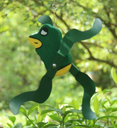 Frog Mini Whirligigs Whirligig Windmill Yard Art Hand made from wood