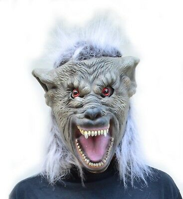 Scariest Big Bad Wolf Costume Latex Halloween Cosplay Mask - Warewolf](Bad Wolf Costume)