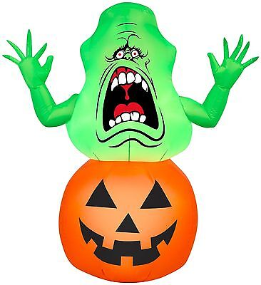 HALLOWEEN GHOSTBUSTERS SLIMER PUMPKIN HAUNTED HOUSE  INFLATABLE AIRBLOWN 3.5 FT (Ghostbusters Pumpkin)