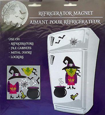 Halloween 13 Piece Refrigerator Magnets ~ Witch, Bat, Spider Web FREE SHIPPING](Halloween Refrigerator)