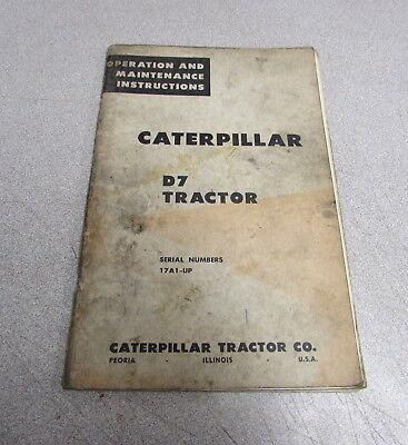 Cat Caterpillar D7 Tractor Operation Maintenance Instructions Manual 31389