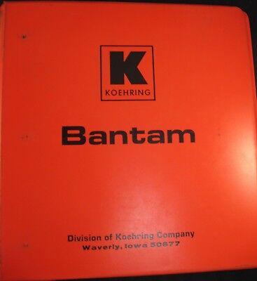 Koehring Bantam C-475 Excavator Parts Catalog