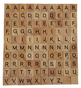 100 wooden scrabble tiles scrapbooking jewellerey arts and crafts uk