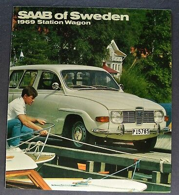 1969 Saab 96 Station Wagon Sales Brochure Folder Excellent Original 69 for sale  Olympia