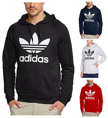 Adidas Originals Trefoil Fleece Hoodie Hoody jumper SLIM FIT GO SIZE UP SALE ON!
