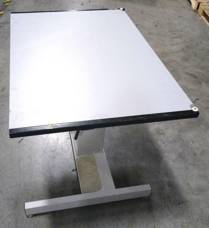 "Mayline Futur-Matic Adjustable Drafting / Drawing Table 32""W x 42""L Pale Purple"