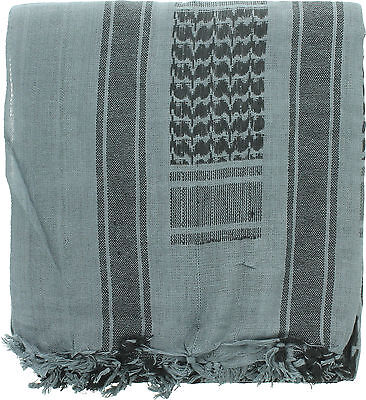 "Sea Green Lightweight Shemagh Arab Tactical Desert Keffiyeh Scarf 42"" x 42"""