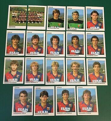 LOTTO DI 19 FIGURINE ALBUM CALCIATORI CALCIO FLASH 84 1983-84 GENOA COMPLETA
