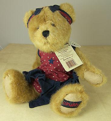 Boyds Katie B Bearyproud Libearty Plush 10 Patriotic Bear & Quilt 918341