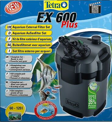 Außenfilter Tetra tec EX 600 plus Aquarium Filter  24 Std.Ver.