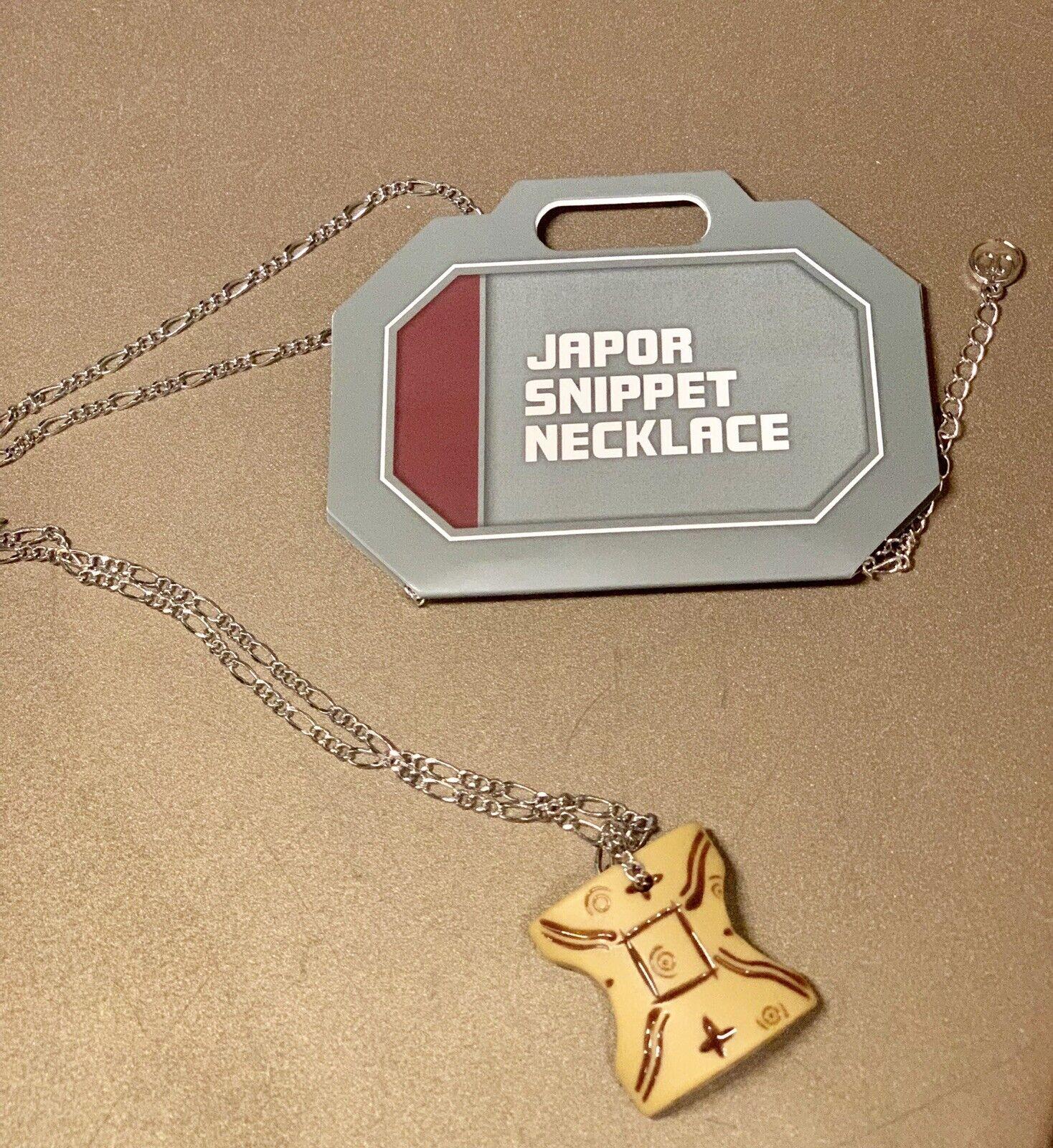 Disney Star Wars Galaxy's Edge Japor snippet Necklace Padme