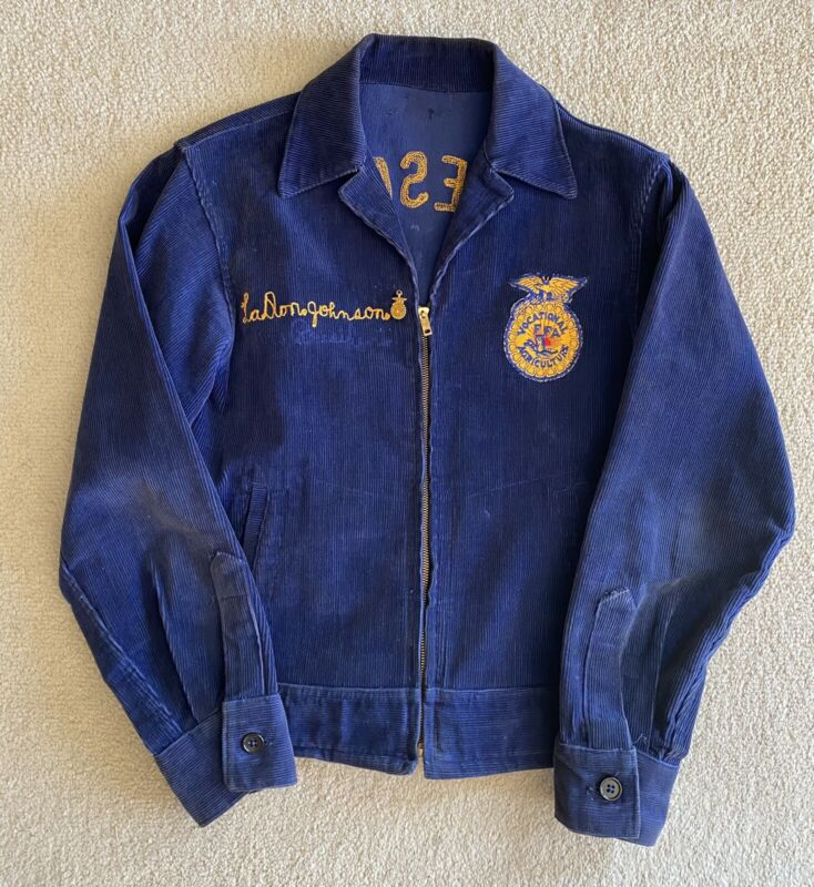 Vintage Future Farmers America Corduroy Jacket With FFA Gold Filled Pin 1952