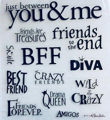 Best Friends Queen Diva BFF Scrapbook Phrase