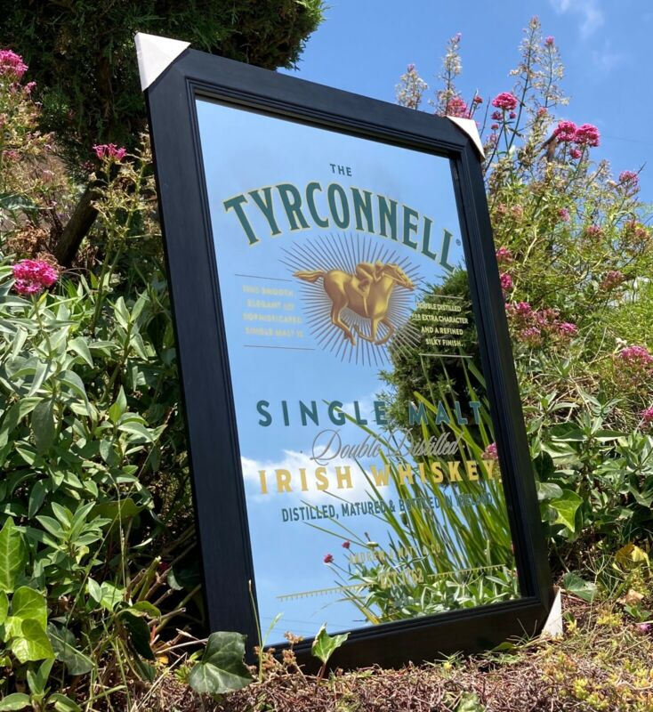 Tyrconnell Irish Whiskey Beer Bar Mirror Man Cave Pub New Wagon