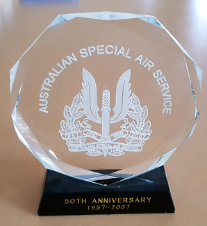 Australian Special Air Service crystal plaque