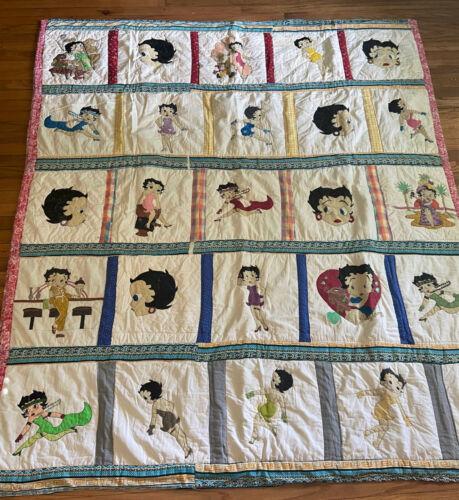 """Vintage Betty Boop Handmade Bedroom Throw Blanket Patchwork Quilt - 72 x 80"""""""