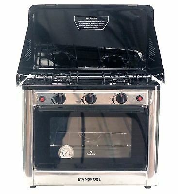 Stansport Outdoor Propane Gas Stove and Camp Oven, Stainless Steel - New