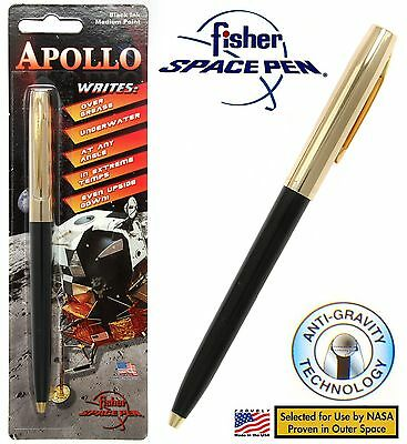 Fisher Space Pen #S251G-Black / Apollo Series Pen in Black & Gold
