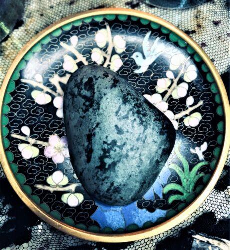 Ocean Spirited Raw Hand Polish Jasper Dragons Skin Green Heart Noir Energy Stone