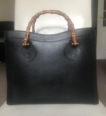 Gucci Vintage Diana Bamboo Tote Bag