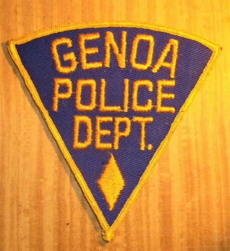 GEMSCO NOS Vintage Collectible Patch POLICE DEPARTMENT GENOA IL Original 65+