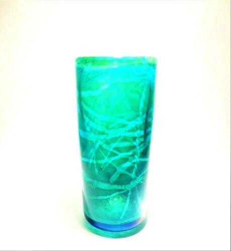 A MDINA ART GLASS VASE
