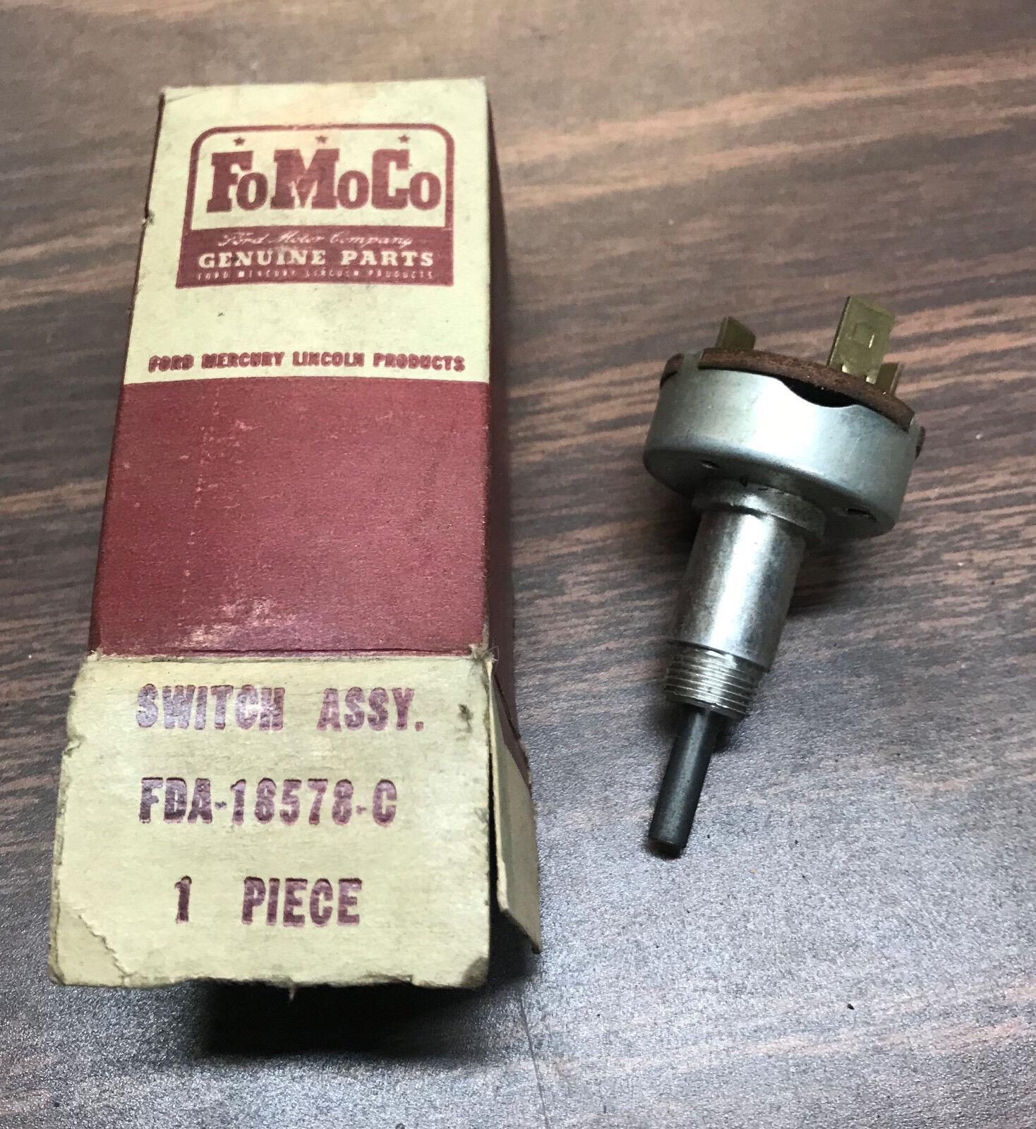 1954 Ford NOS Heater Switch FDA-18578-C 18123