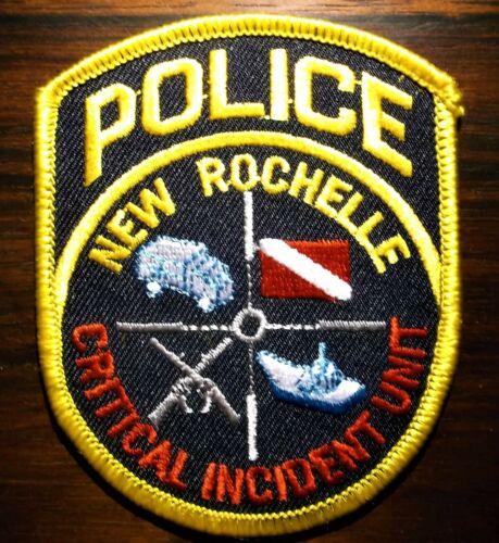 GEMSCO NOS Patch POLICE CRITICAL INCIDENT UNIT - NEW ROCHELLE NY Original 30+