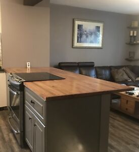 Custom wooden countertops