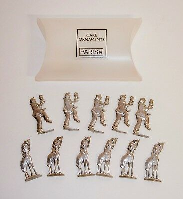 Silver Metal Cake Toppers~ORNAMENTS Decor~CIRCUS THEME~Parise~NEW IN BOX](Circus Theme Cake)