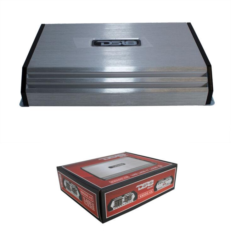 3000 Watt 4 Channel Silver DS18 Full Range Class D Amplifier Pro Audio S3000.4D