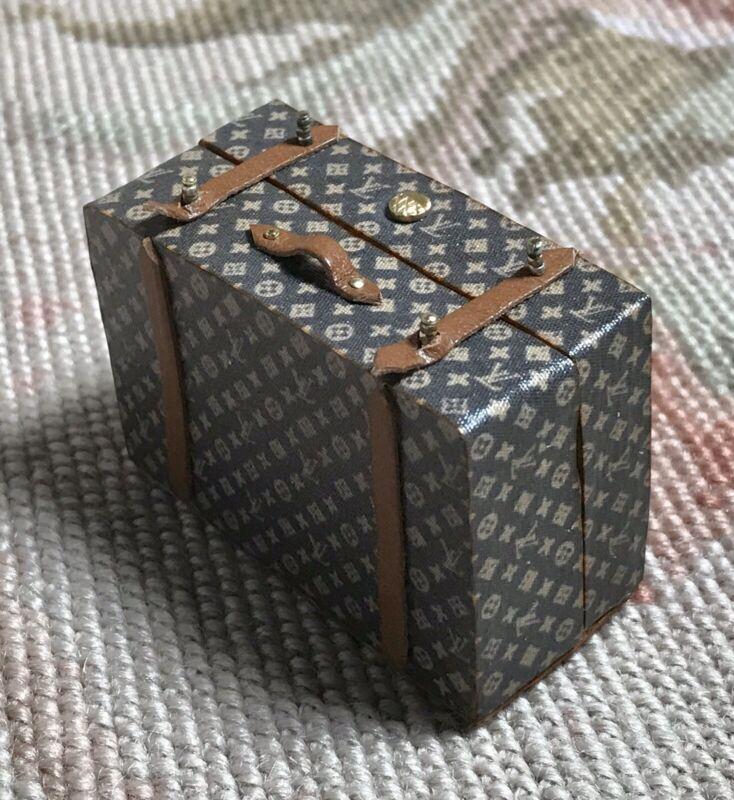 Pat Tyler Dollhouse Miniature Bag Luggage Suitcase Satchel Valise Grip Large 586