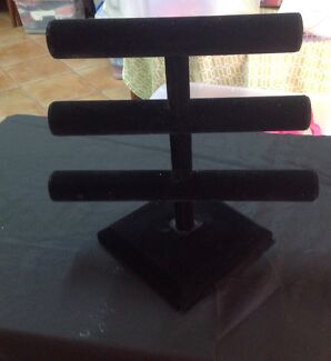 3 Tier Black Jewellery Stand for Bracelets & Necklaces