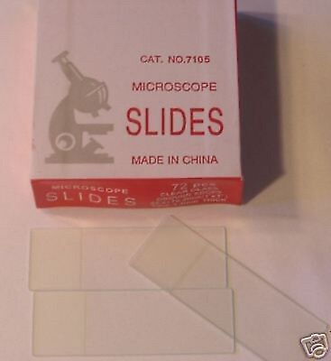 Blank Microscope Slides 2500 Ground Edges Frosted White Label New