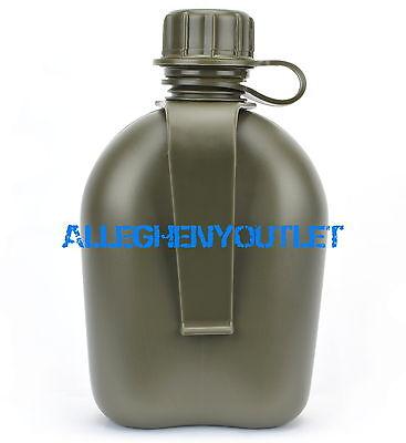 US Military Hard Plastic Canteen w Belt Clip OD GREEN BPA FREE NEW (Canteen Plastic)