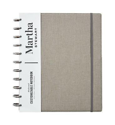 Martha Stewart Linen Letter Discbound Notebook Ms102h