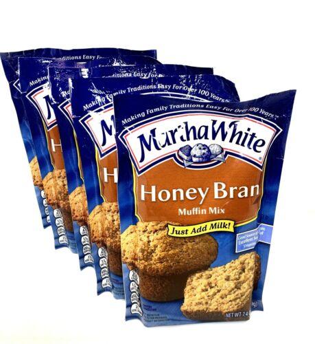 Martha White Honey Bran Muffin Mix 7.5 0z Quick Easy ~ Pack of 5