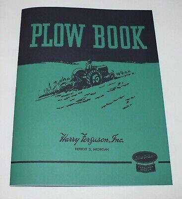 Ferguson Plow Book Operators Owners Manual Ao Plow Ford - Ferguson