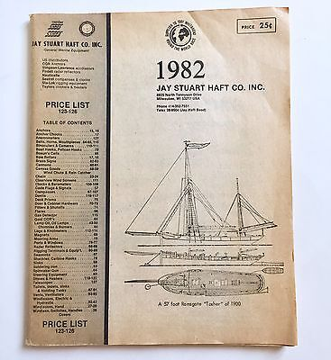Vintage 1982 Jay Stuart Haft Co. Marine Sailing Boating Supply Equipment Catalog