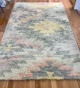 West Elm Ashik Wool Shag Rug 5x8ft